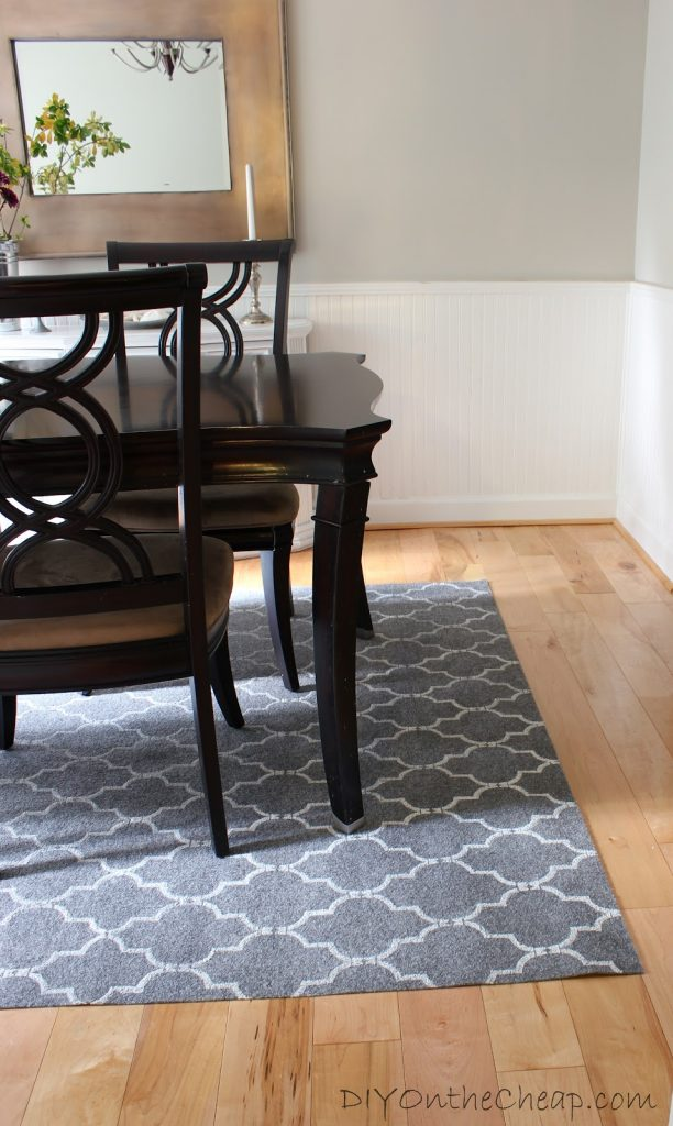 How to stencil a rug (on the cheap), a step by step tutorial.