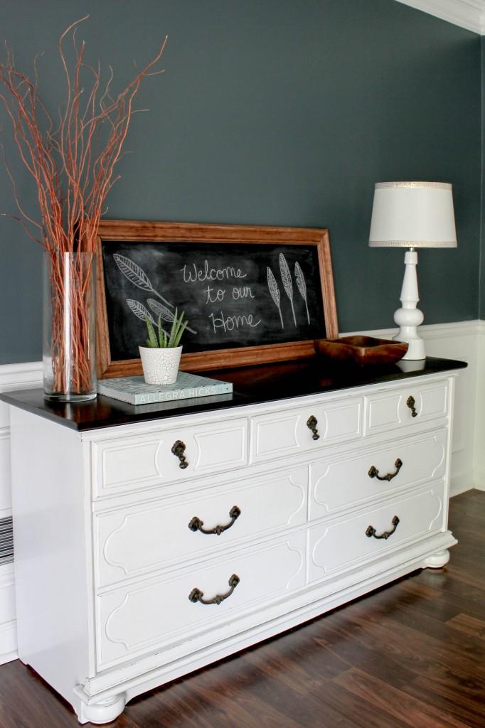 Dining Room Chalkboard Vignette