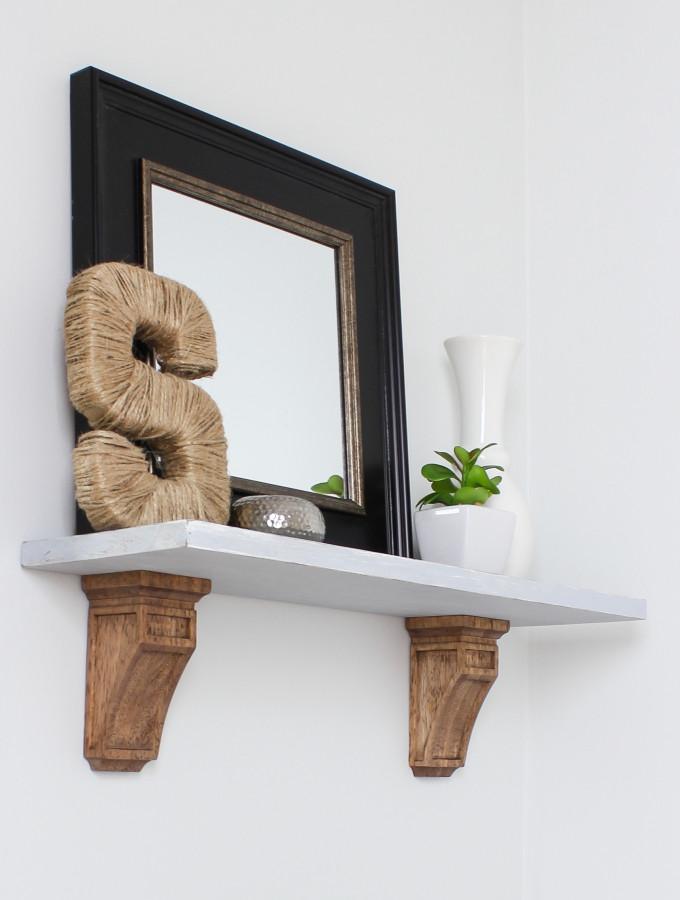 DIY Wall Shelf with Corbels