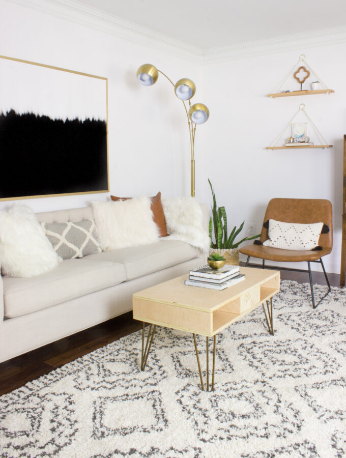 DIY Boho Living Room & Home Office Makeover