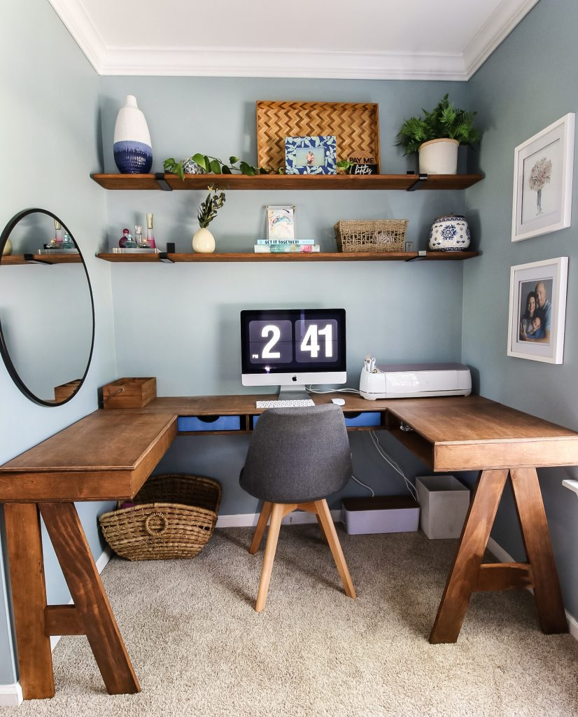 DIY Built-In U-Shaped Desk
