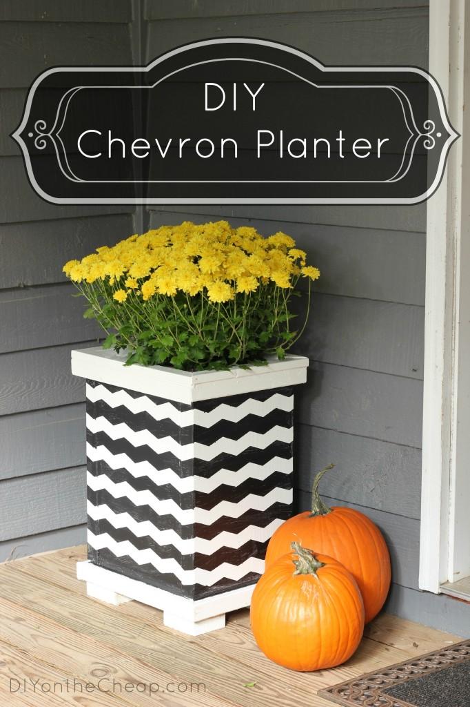 Diy Chevron Planter Diy On The Cheap