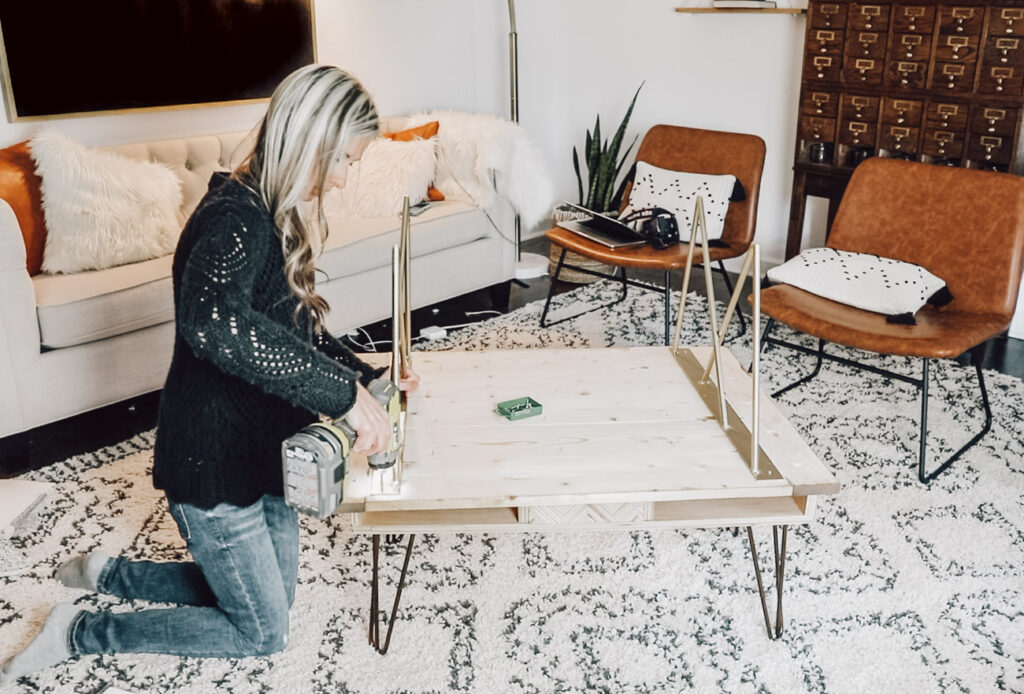 Learn how to make this DIY coffee table with welded steel legs! If you don't weld, no worries! Hopefully you'll enjoy seeing the process, and you can always order pre-fabricated metal furniture legs online!