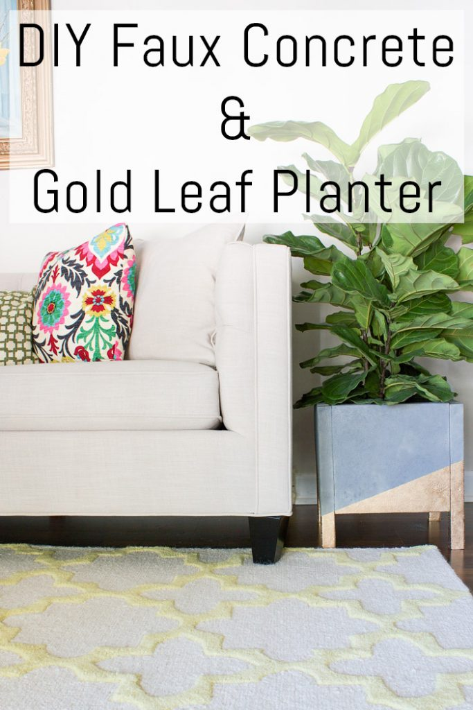 Wow! This DIY faux concrete and gold leaf planter is gorgeous! I can't believe the whole thing is DIY. Love the industrial style mixed with gold glam!