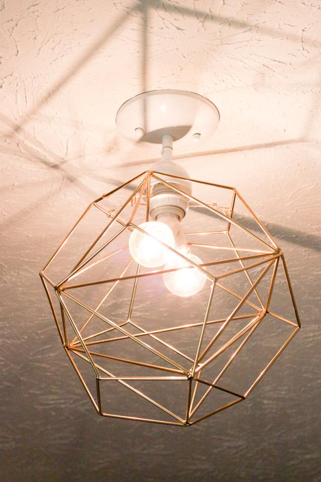DIY Geometric Pendant Light Tutorial