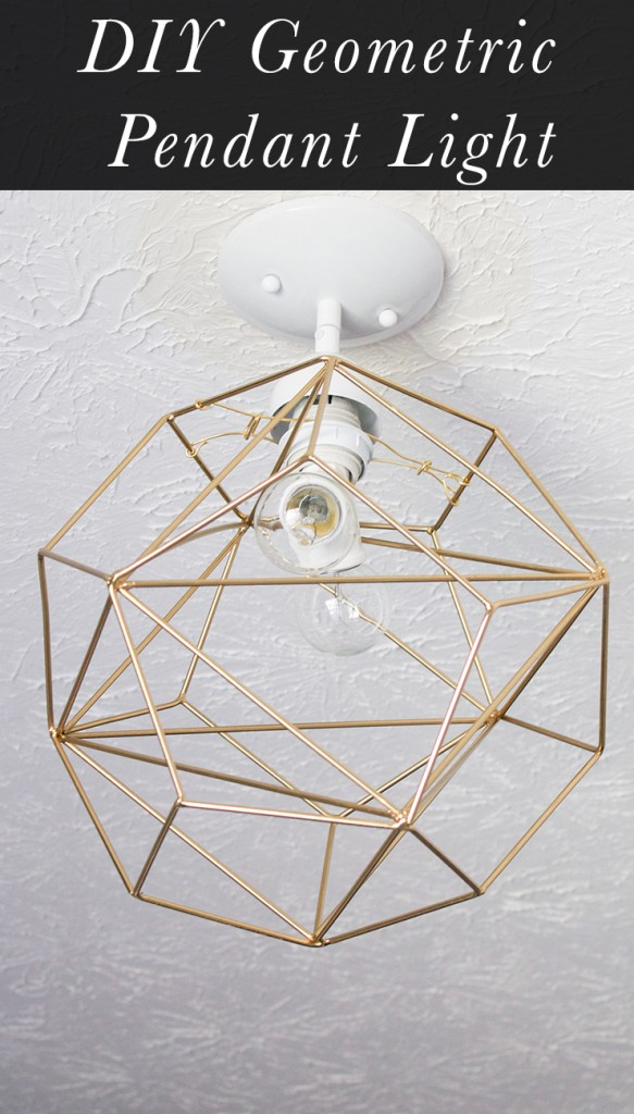 DIY Geometric Pendant Light Tutorial