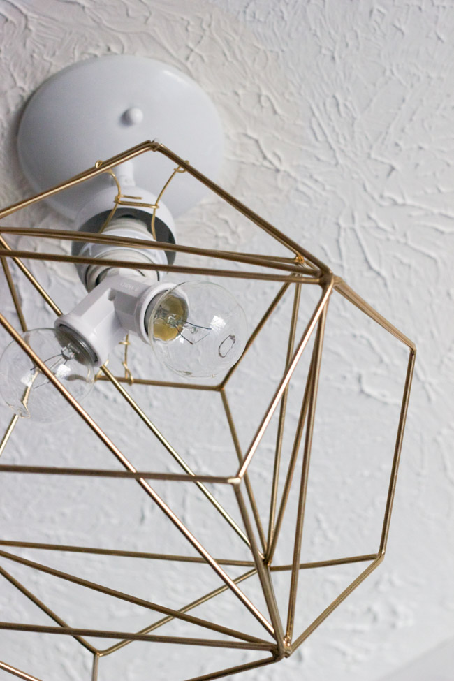 DIY Geometric Pendant Light