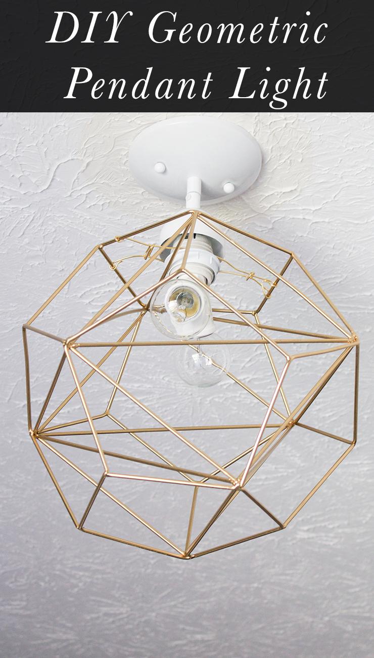 Diy geometric pendant light erin spain diy geometric pendant light aloadofball Gallery