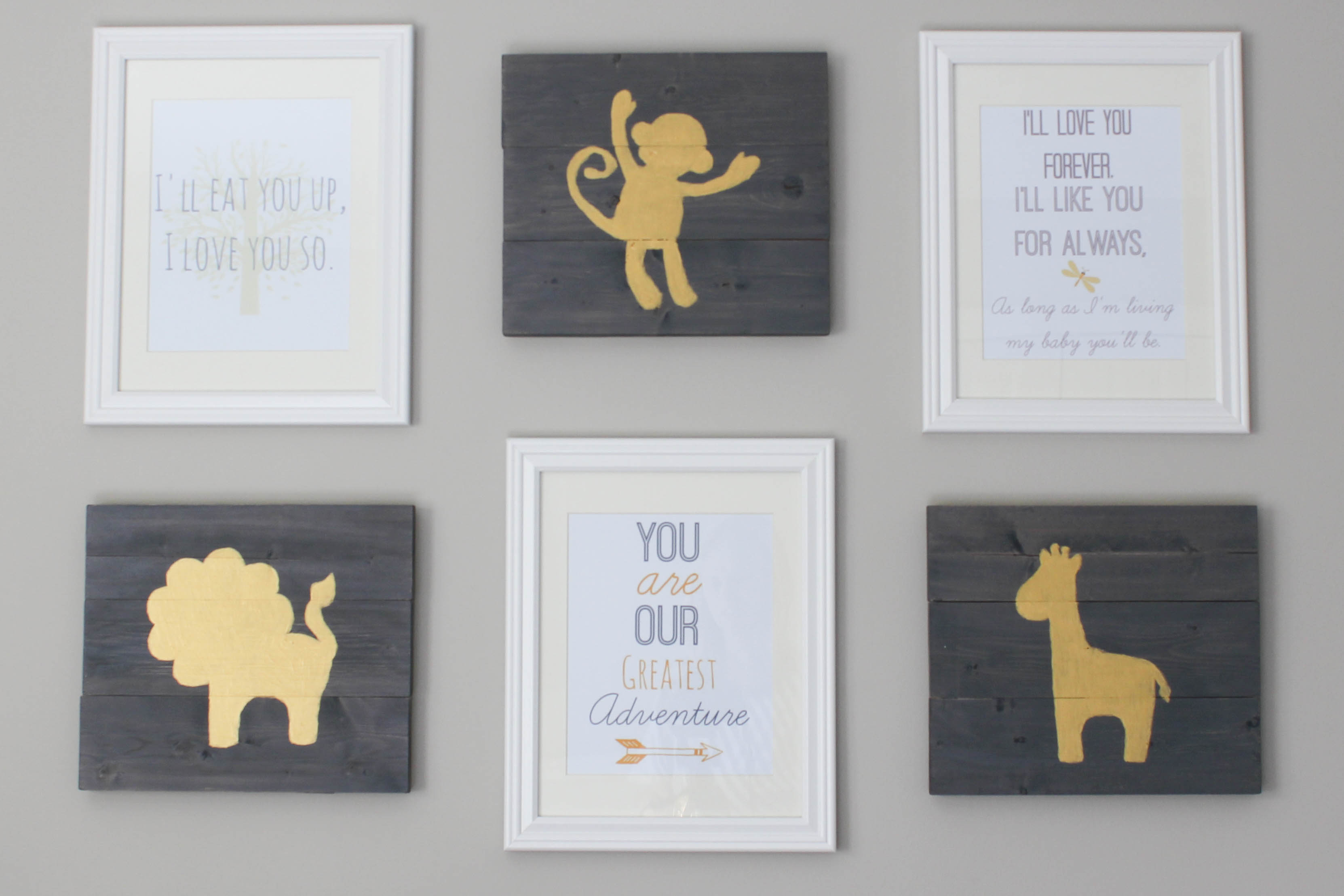Wall Art For Nursery free printable nursery wall art! - erin spain
