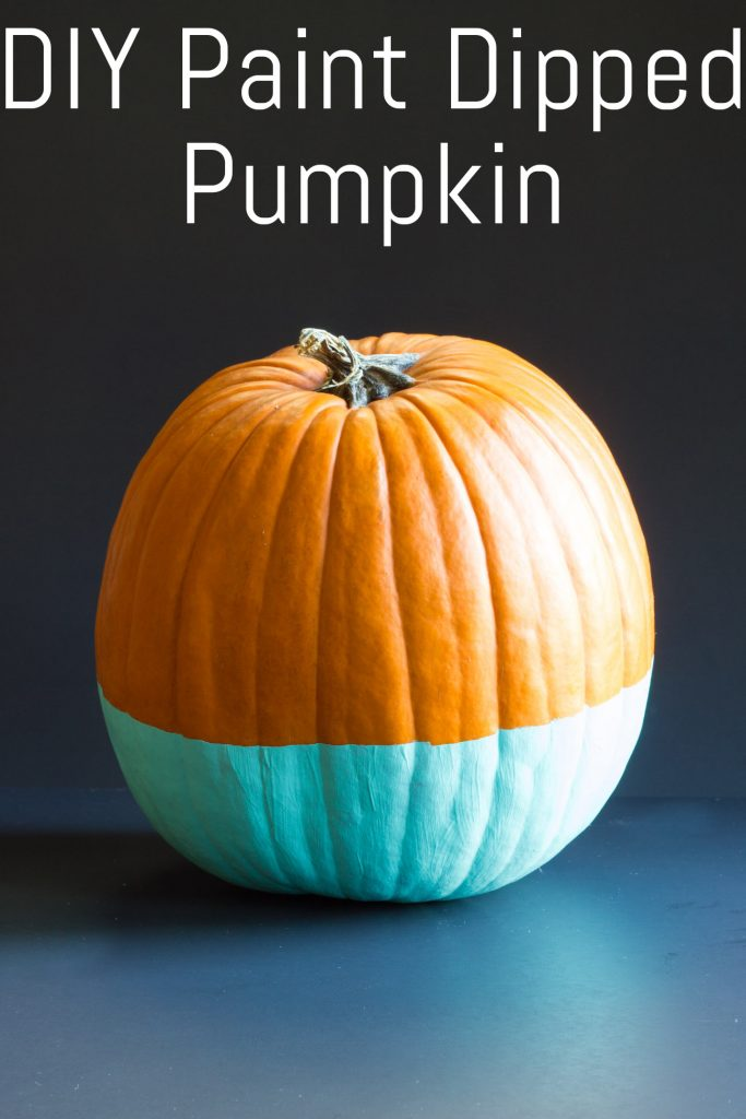 Check out this paint dipped pumpkin tutorial! So simple, modern, and pretty!