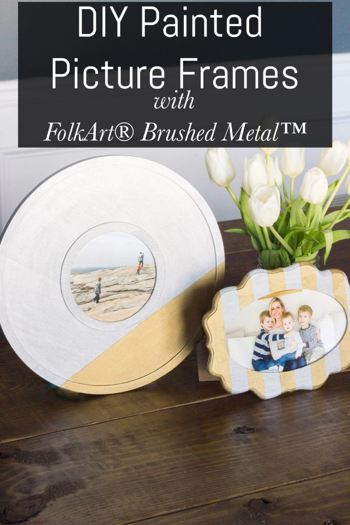 Diy Painted Picture Frames With Folkart Brushed Metal Erin Spain
