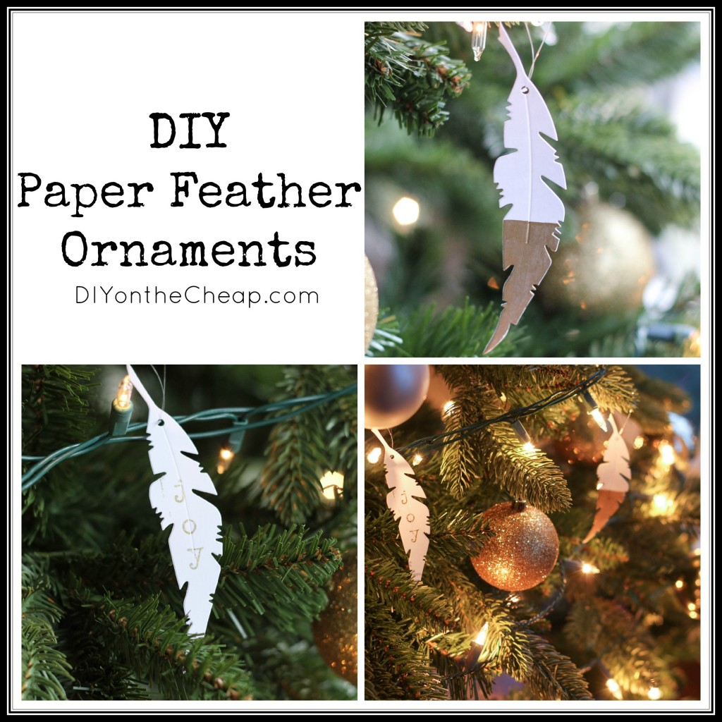 Make your own paper feather ornaments!