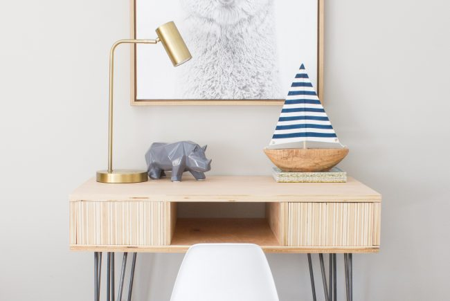 DIY Plywood Kid's Desk