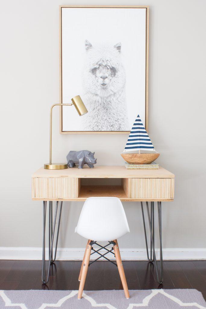 DIY Plywood Kid's Desk