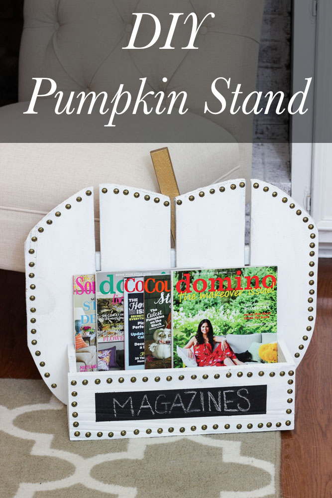 DIY Pumpkin Stand Tutorial (plus register for a #DIHWorkshop at The Home Depot to learn how to build one!)