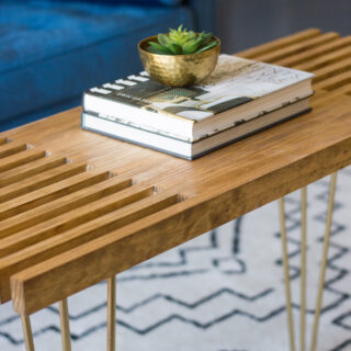 Learn how to make this DIY slatted coffee table! This step by step tutorial will show you how. #diy #diyfurniture #woodworking