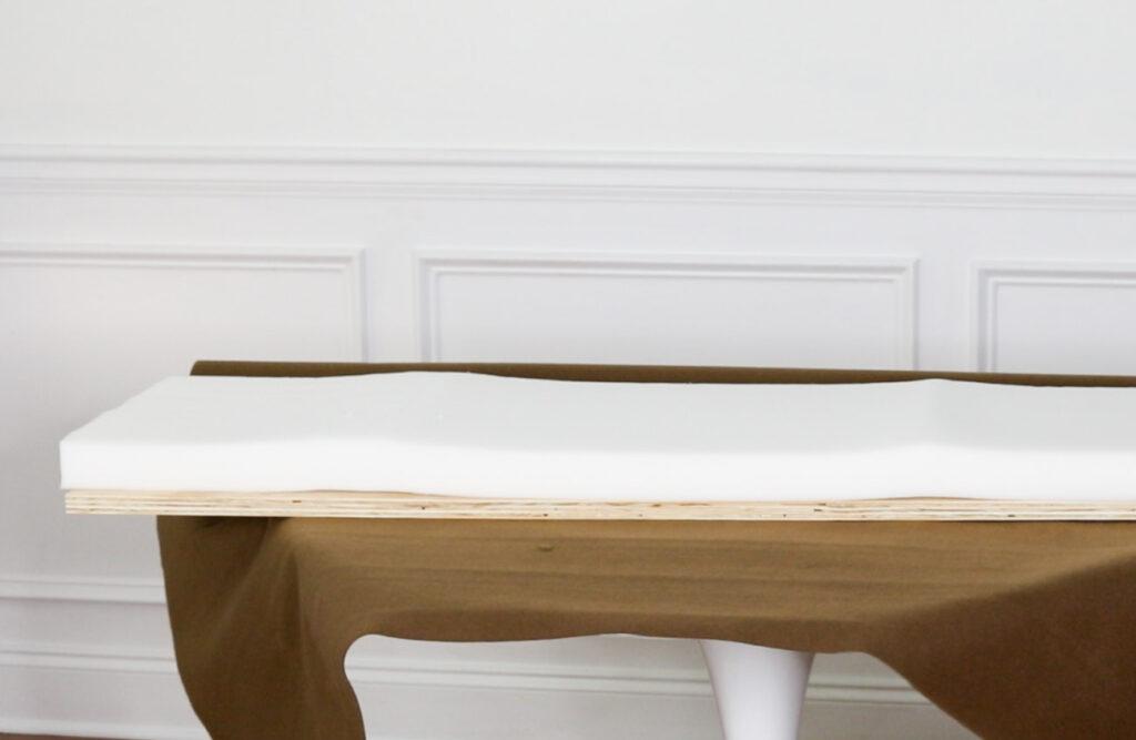 Upholstery foam for bench.
