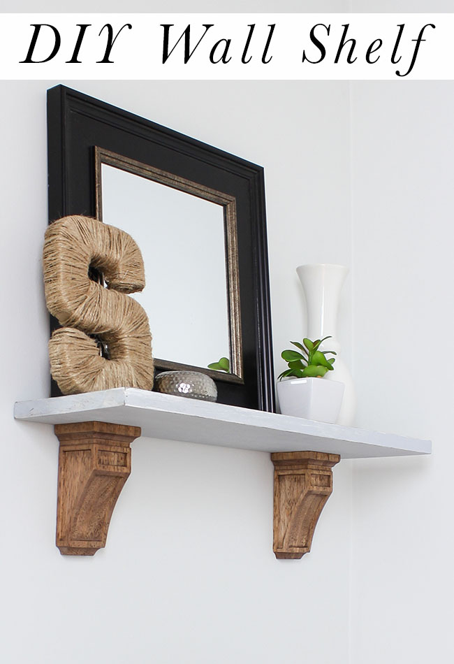 How to build a DIY Wall Shelf with corbels.