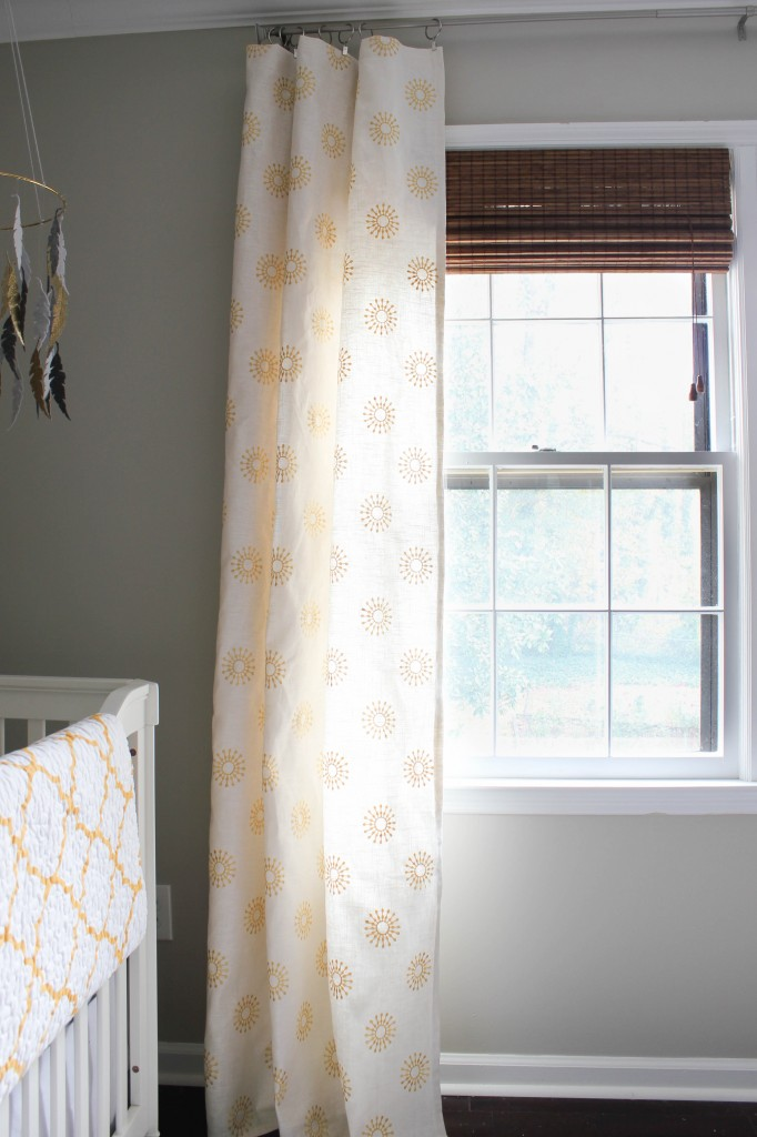 DIY Window Curtains with fabric from Online Fabric Store.