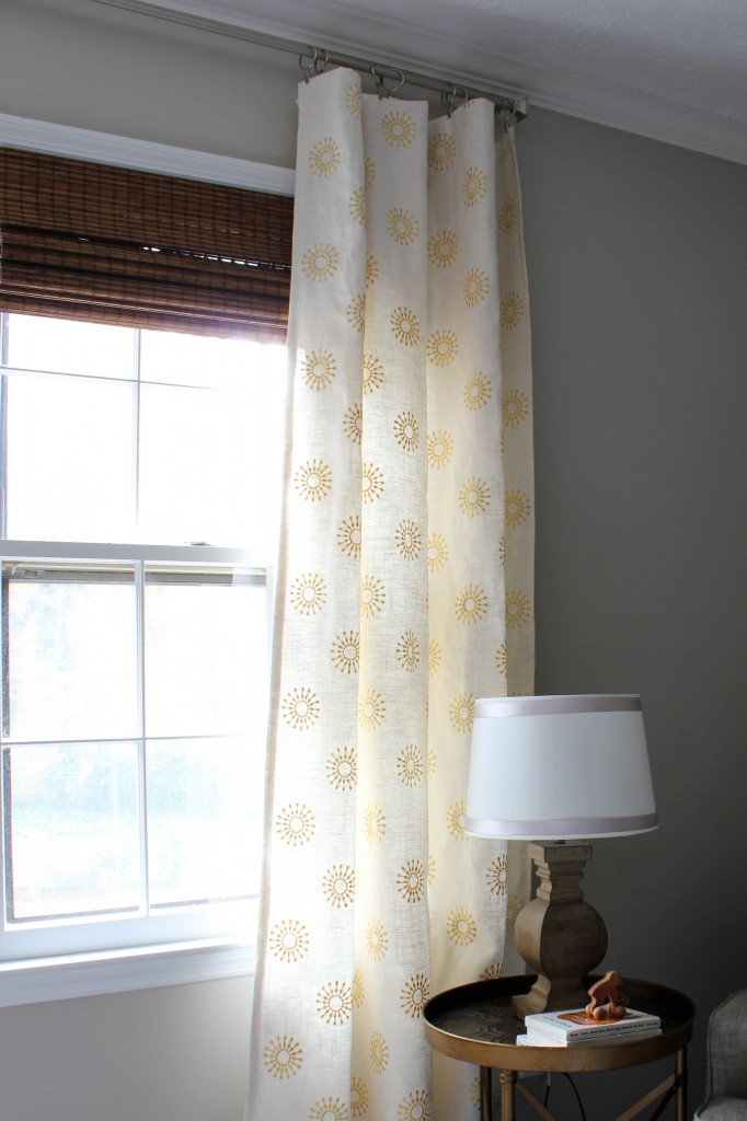 Nursery curtains {fabric from Online Fabric Store}