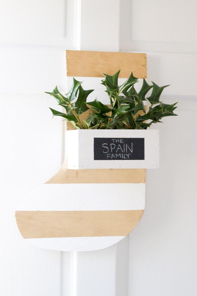 Make your own DIY Wooden Stocking Hanger! Register for a #DIHWorkshop at The Home Depot!