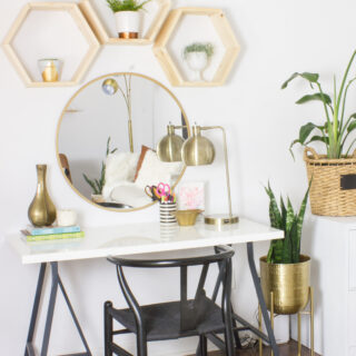 Learn how to make these easy DIY hexagon shelves!