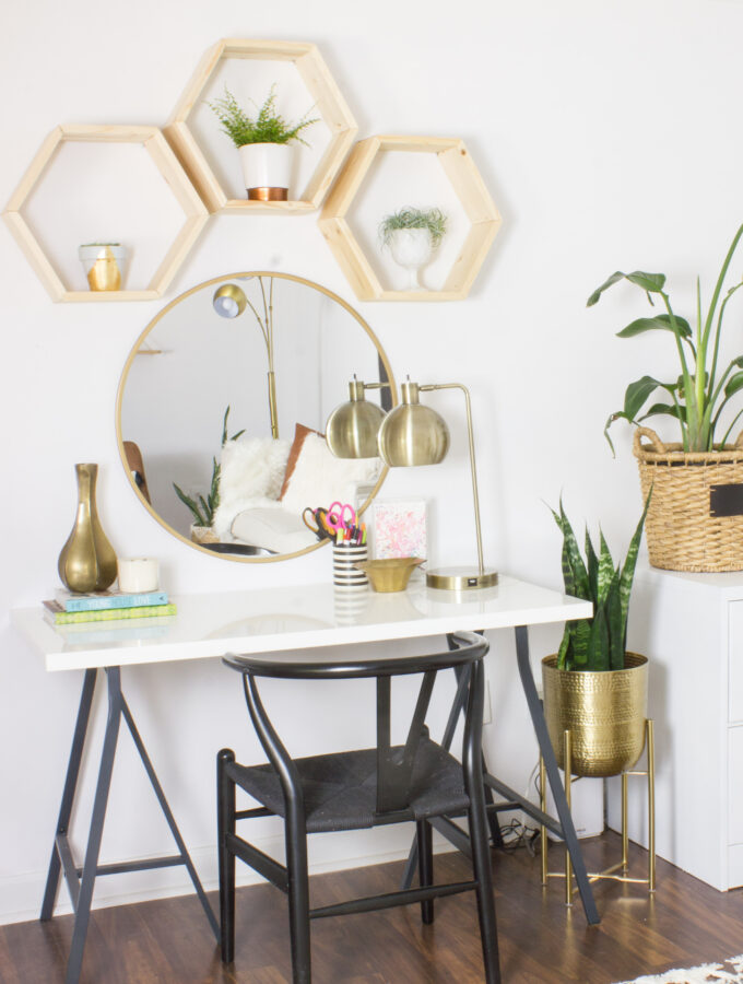 Easy DIY Hexagon Shelves