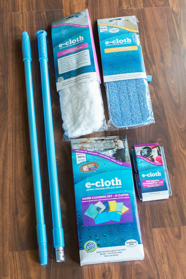 Clean your home the chemical-free way! E-Cloth products just use water to clean and remove 99% of surface bacteria in your home. It's so much safer for your family!