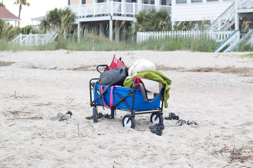 Check out my top 5 beach must-haves, including this awesome beach wagon, at ErinSpain.com!