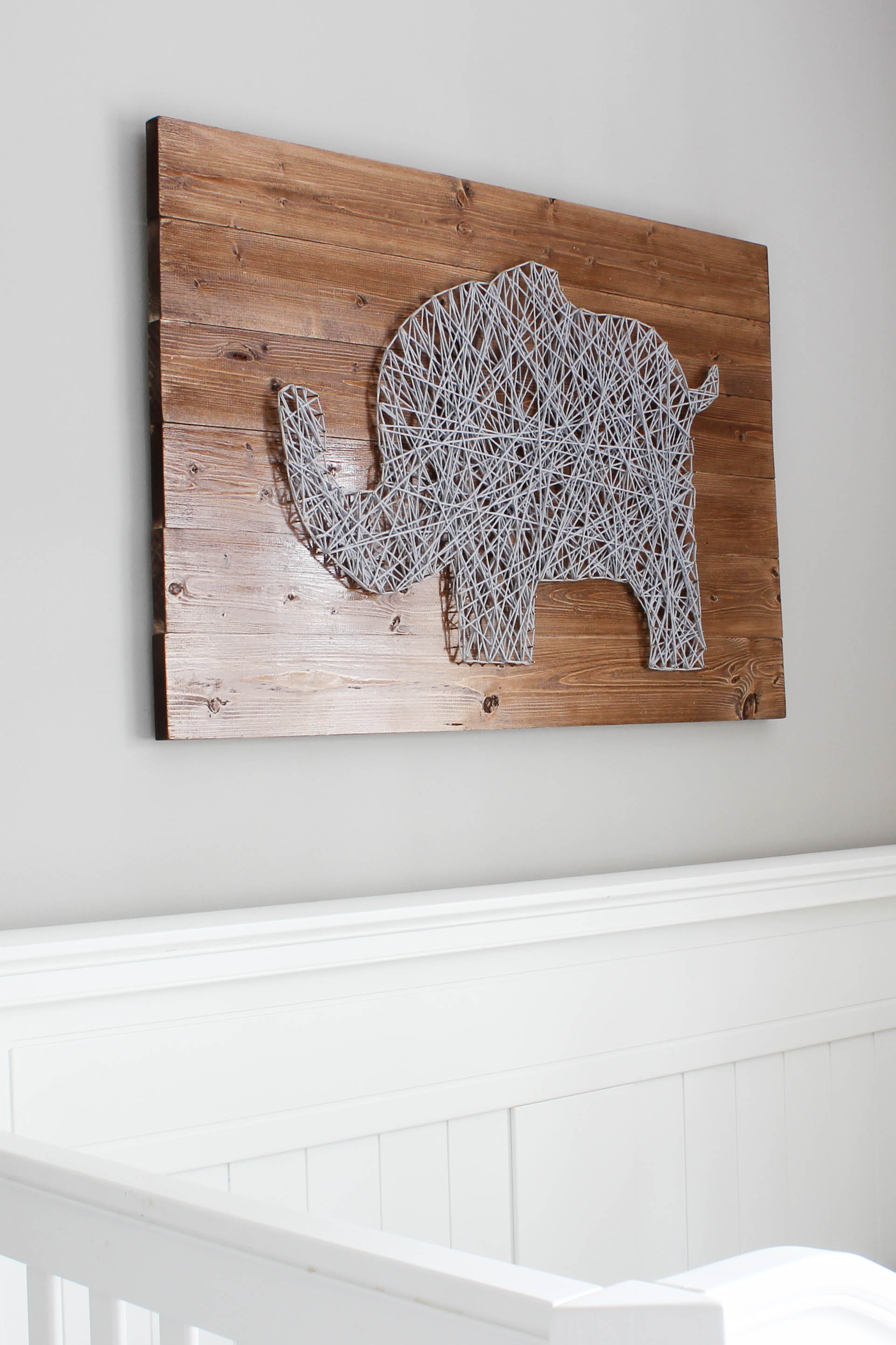 Nursery String Art Tutorial (2015 Year in Review: Favorite Posts at DIYontheCheap.com)