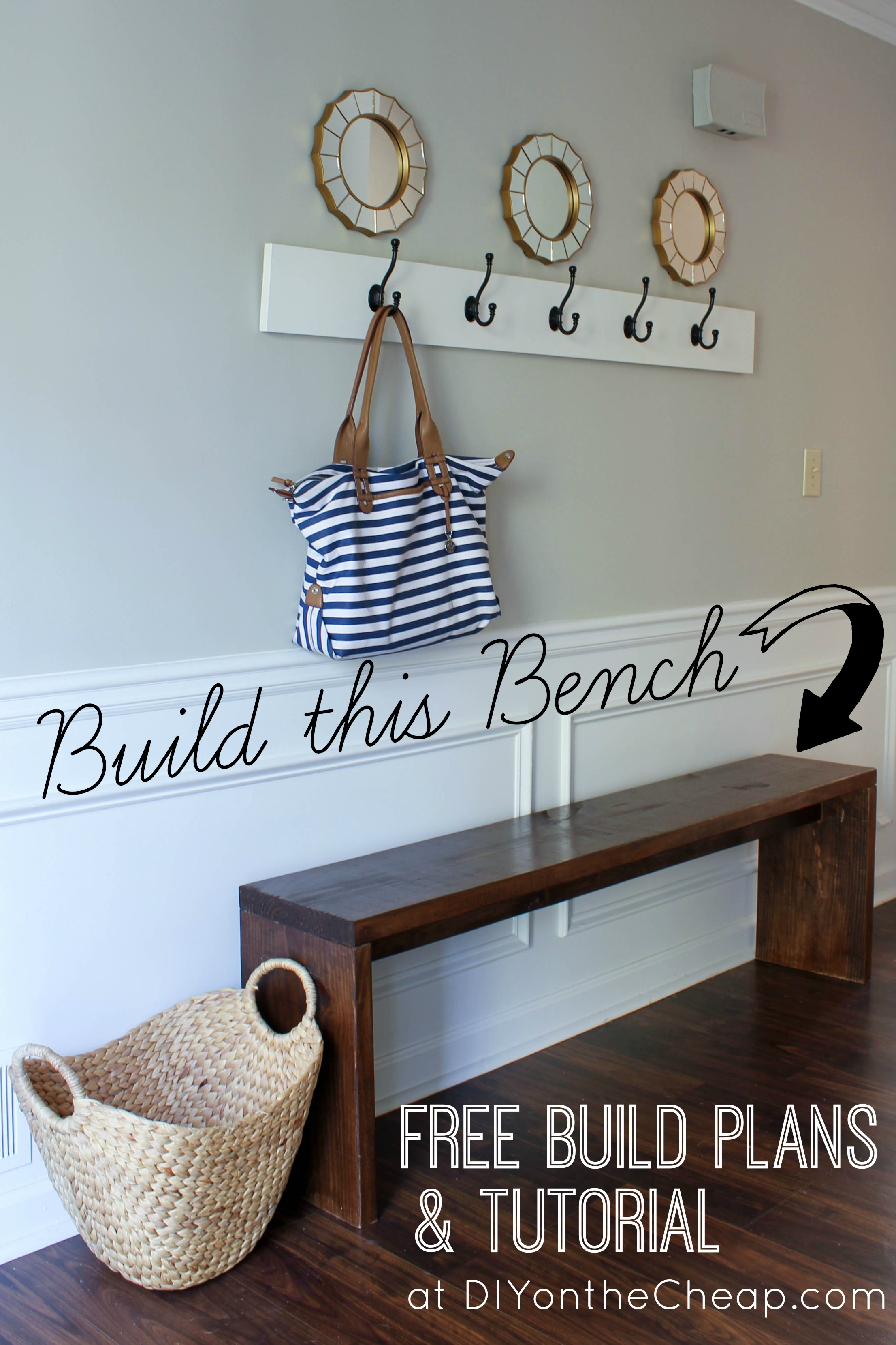 Diy Foyer Bench : Entryway bench plans tutorial erin spain