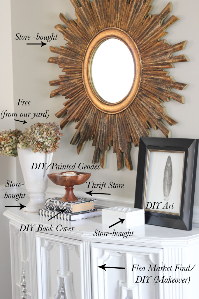Get DIY decor tips from blogger Erin Spain, including how to mix store-bought, thrifted and DIY items in decor.