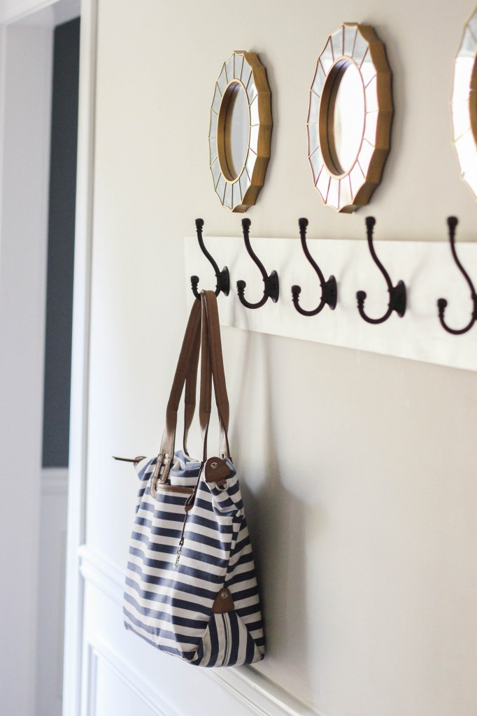 How to build a wall mounted coat rack.