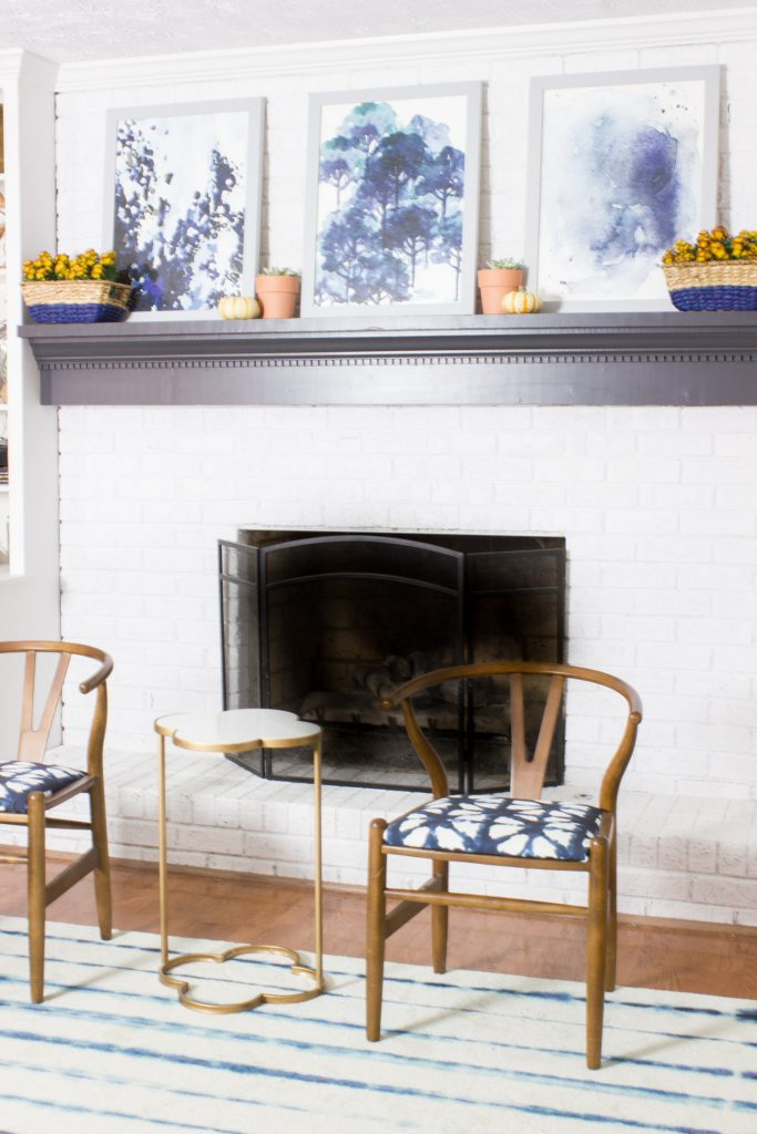 Check out this simple fall mantel which includes painted baskets using Delta Ceramcoat Acrylic Paint from Target!