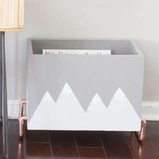 Learn how to make this wood and copper kid's book storage bin!