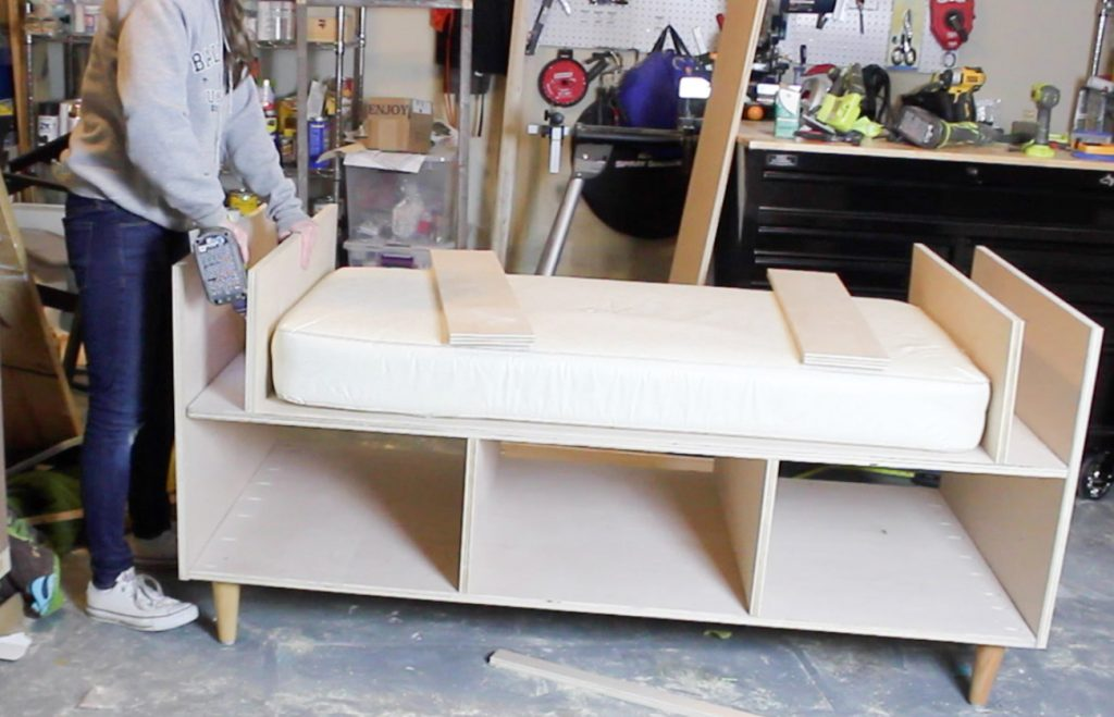 DIY Plywood Mini Daybed