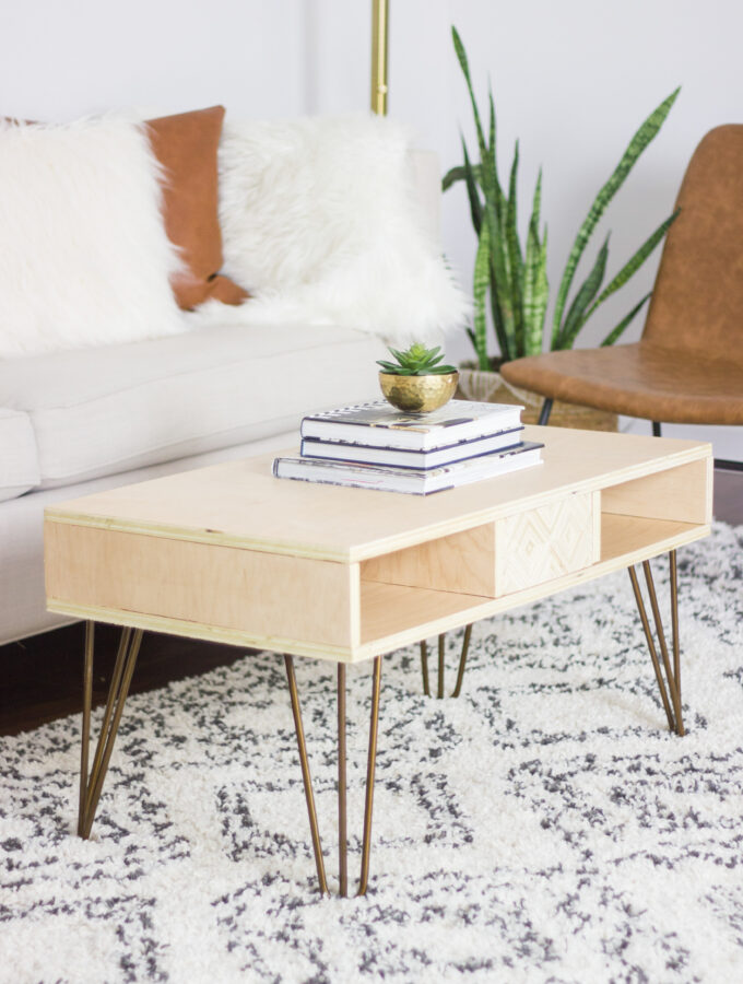 DIY Plywood Coffee Table