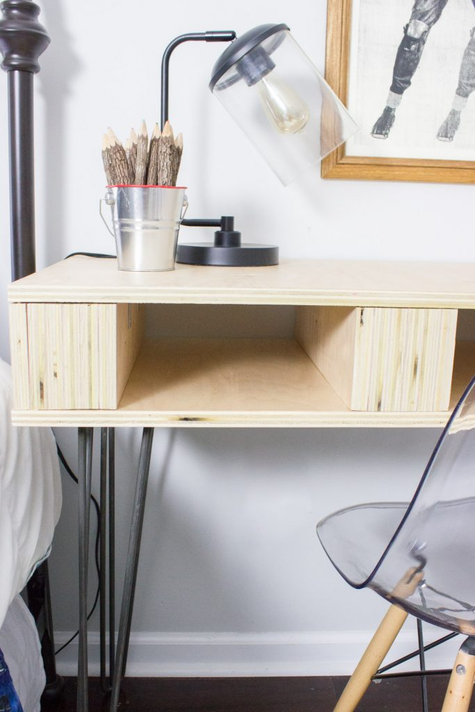 Learn how to build a DIY Plywood Desk! All it takes is a few basic tools and materials.