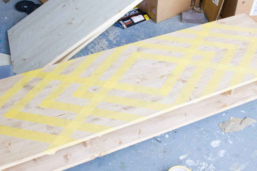 Learn how to make a DIY floating desk with a geometric painted design, plus find out all about the FrogTape® Paintover Challenge™!