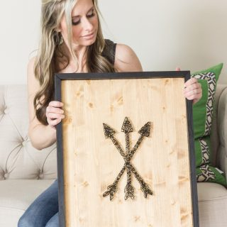 Learn how to make string art with this step by step tutorial! Plus download a free printable arrow template.