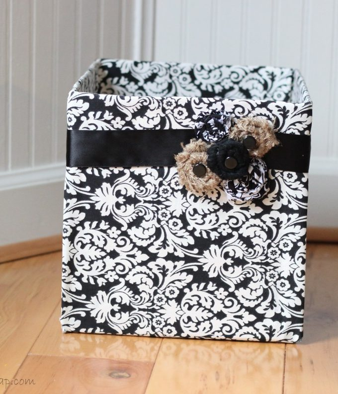 Fabric-Covered Diaper Box: Cute, Easy Storage