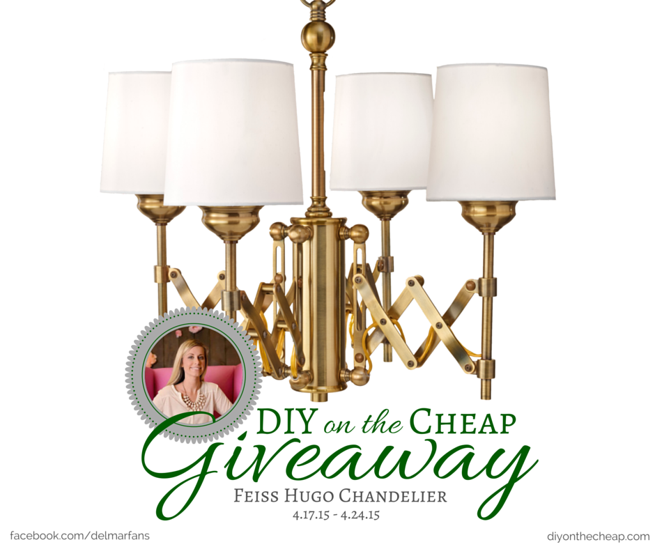 Del Mar Fans & Lighting Facebook Giveaway - Enter to win a Feiss Hugo Chandelier! #ad