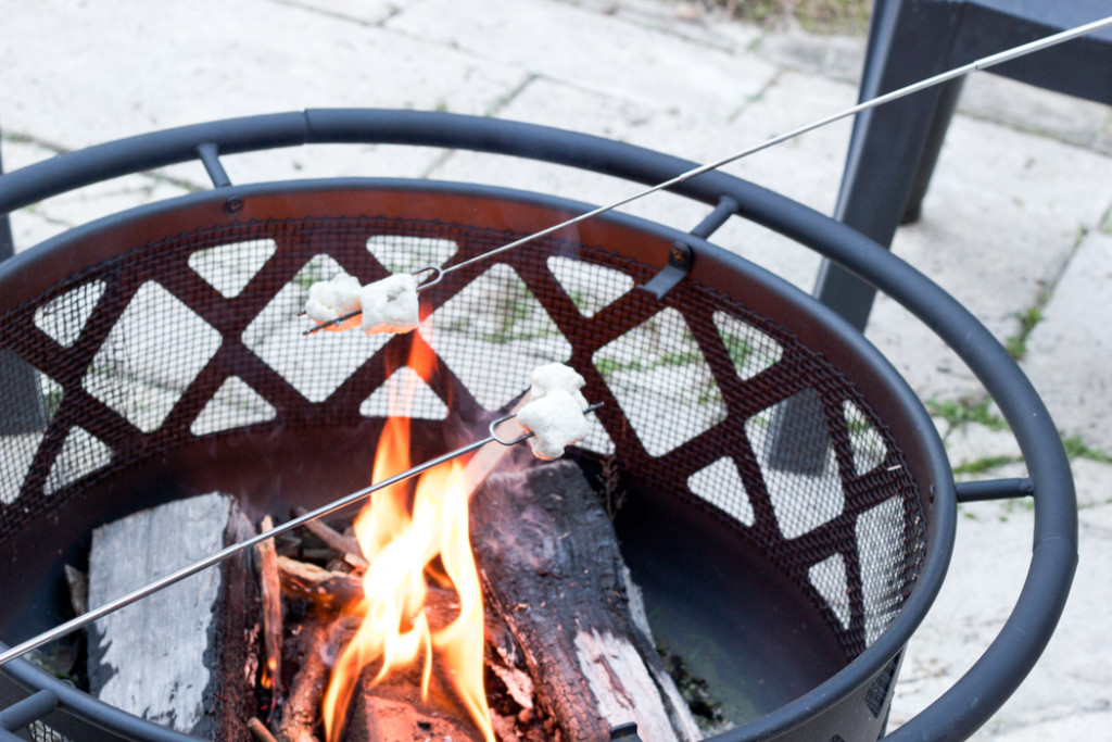 Fall Home Tour: Making s'mores in the fire pit!