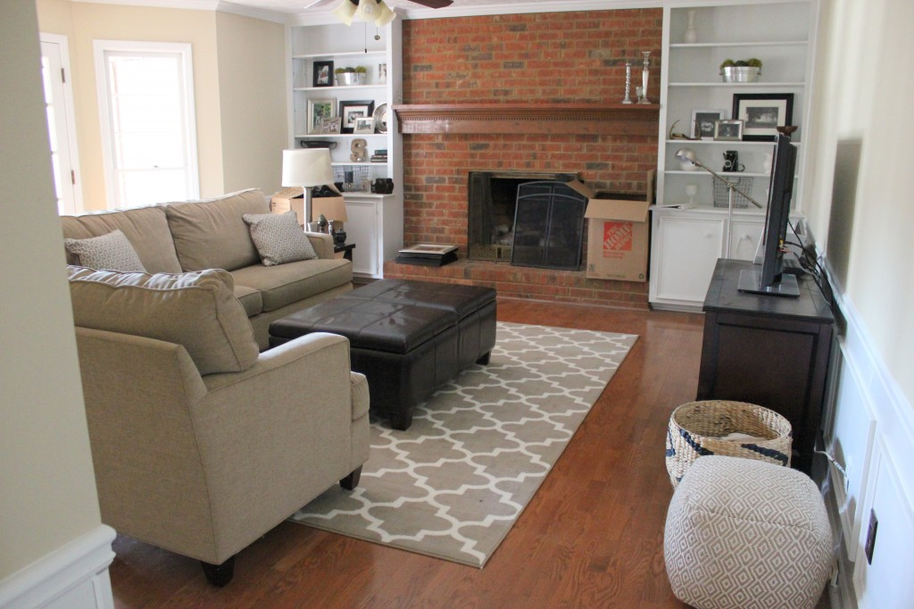 Neutral Family Room Makeover Progress Erin Spain