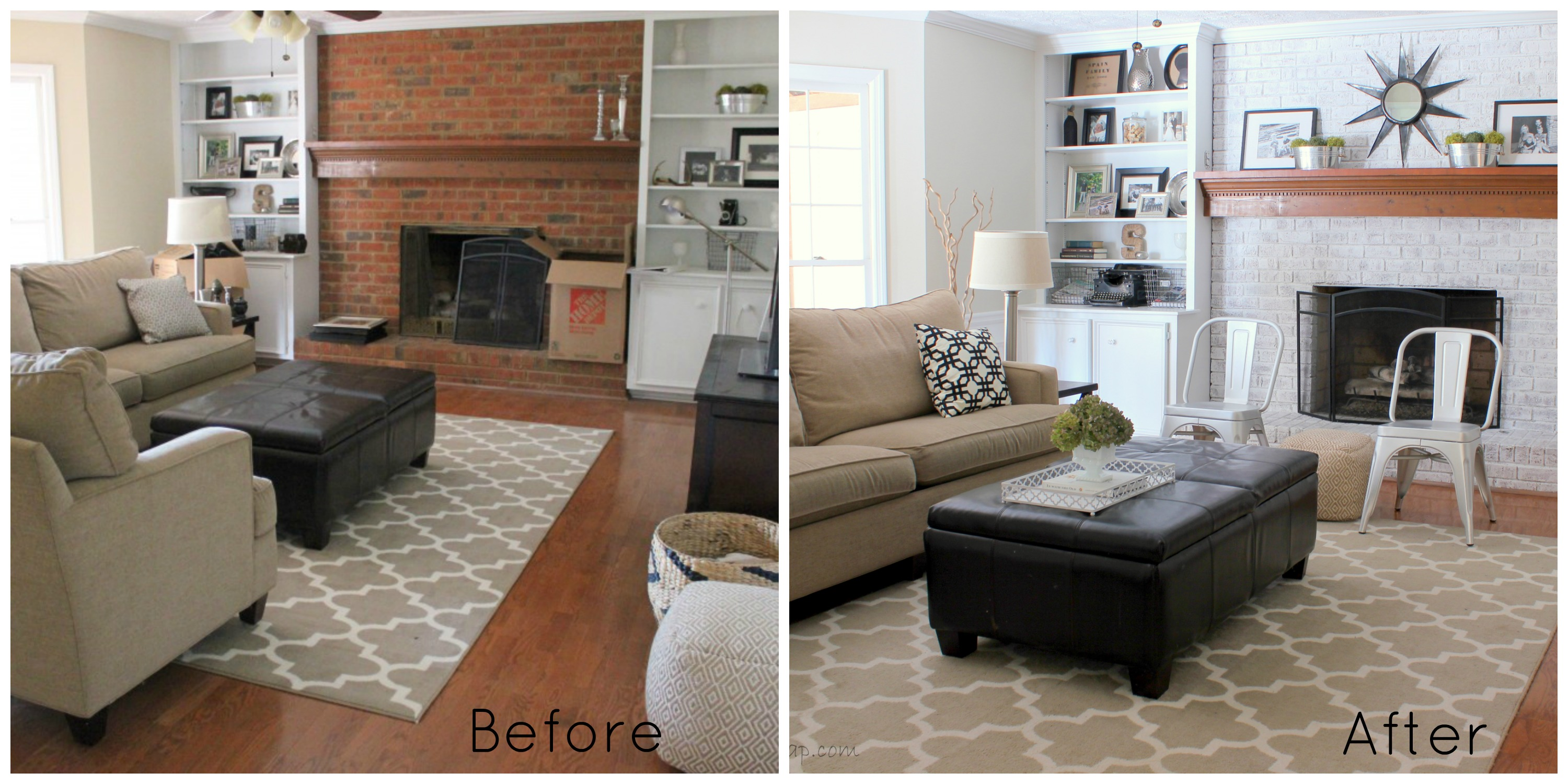 Neutral family room makeover progress erin spain for Living room makeovers