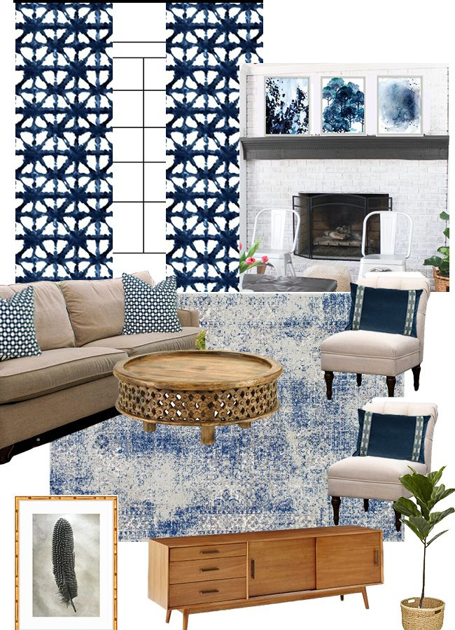 Family Room Makeover Plans & Moodboard