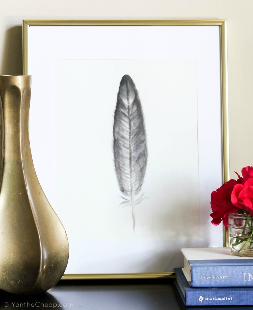 DIY Feather Watercolor Art