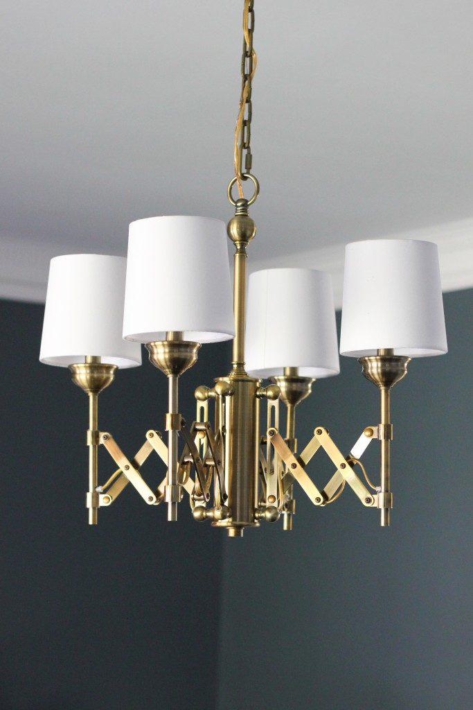 Murray Feiss Brass Hugo Chandelier from Del Mar Fans