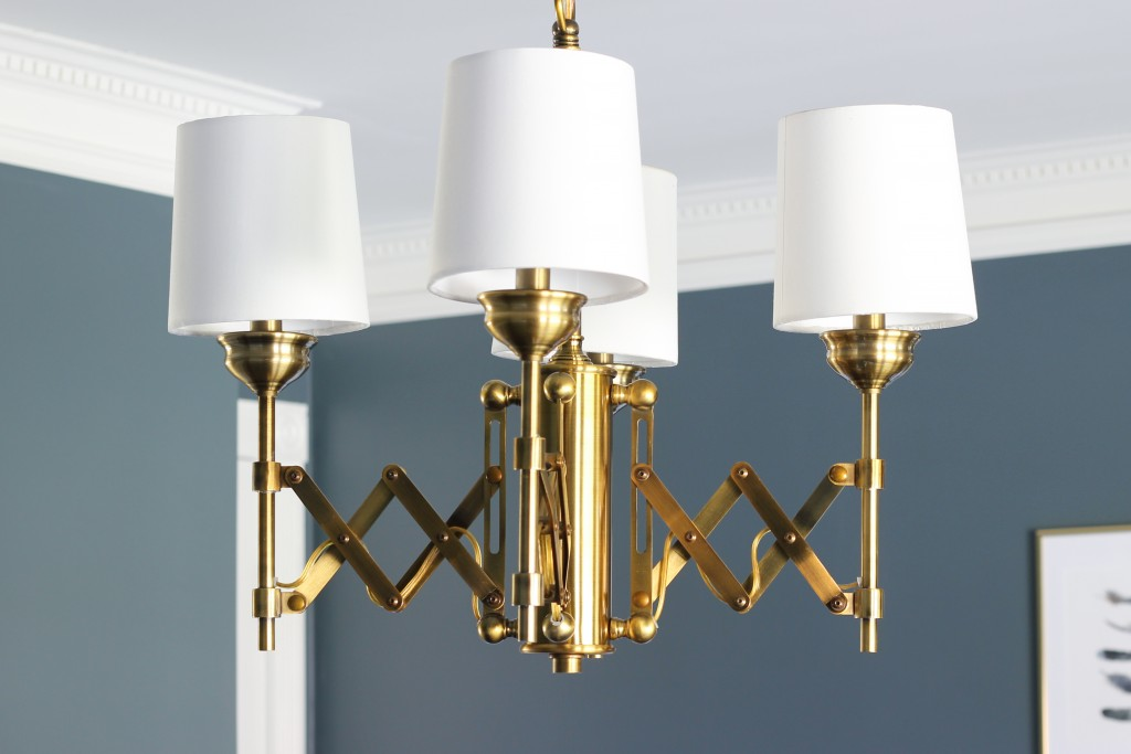 Murry Feiss Brass Hugo Chandelier from Del Mar Fans.