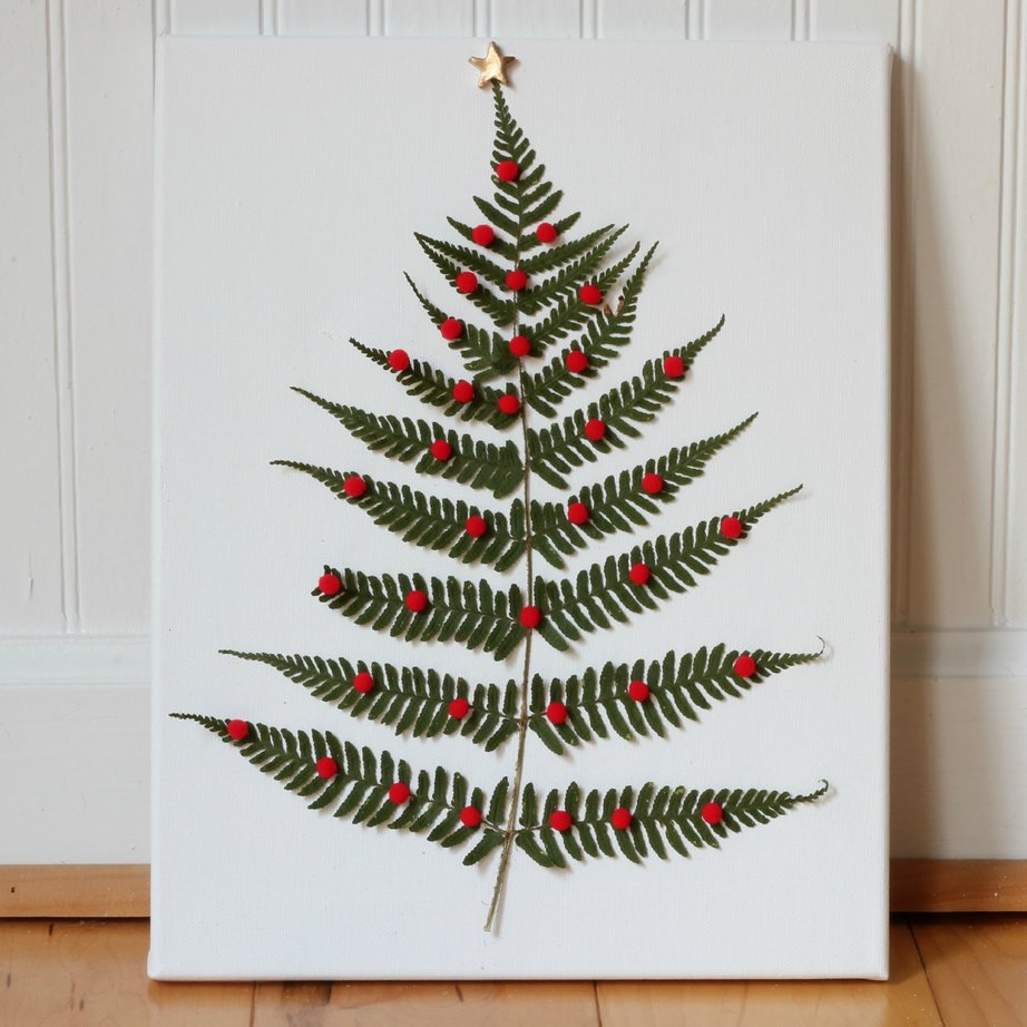 Fern Leaf Christmas Tree tutorial